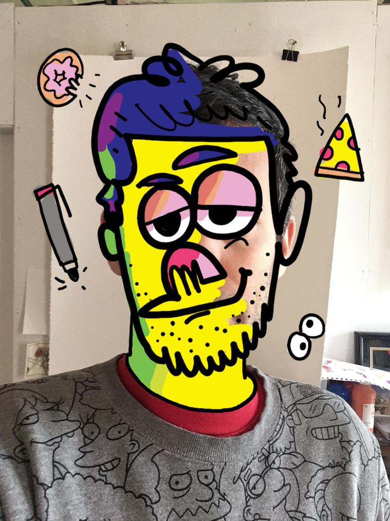 Jon Burgerman #CharacterFaceOff Challenge